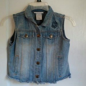American Girl Size 10/12 Sleeveless Jean Jacket